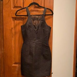 H and M great mini dress sheer insert